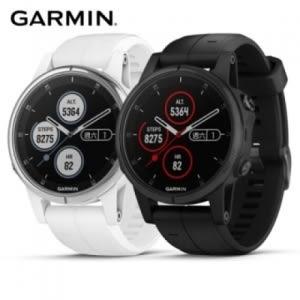 Garmin fenix 5S Plus 行動支付音樂GPS複合式心率時尚黑