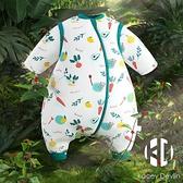 嬰兒睡袋冬季加厚純棉寶寶睡袋兒童分腿一體睡袋嬰兒春秋冬防驚跳睡袋【Kacey Devlin】