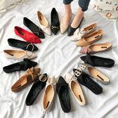 豆豆鞋 尖頭單鞋子女春季平底百搭淺口溫柔仙女晚晚豆豆鞋女 【童趣屋】