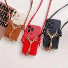蘋果 iPhone13 iPhone12 Pro Max 12Pro 13Mini 聖誕C 手機殼 掛繩 插卡 保護殼