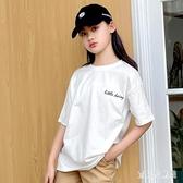 女童小雛菊短袖T恤2020新款兒童洋氣寬鬆棉質上衣中大童夏季薄款9 TR1413『寶貝兒童裝』