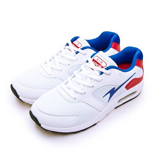 LIKA夢 ARNOR 輕量休閒緩震氣墊慢跑鞋 生活隨行系列 白藍紅 93219 男