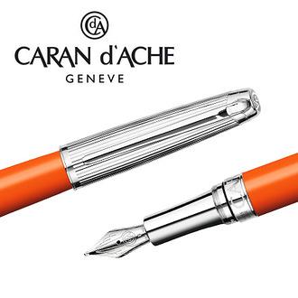 CARAN d'ACHE 瑞士卡達 LEMAN 利曼亮澄漆鋼筆(銀蓋)-BB / 支