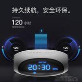 藍芽鏡面音響 先科A18藍芽音箱家用鬧鐘無線超重低音炮小音箱鋼炮  DF 城市科技旗艦