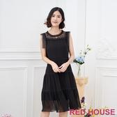 【RED HOUSE 蕾赫斯】無袖素面洋裝