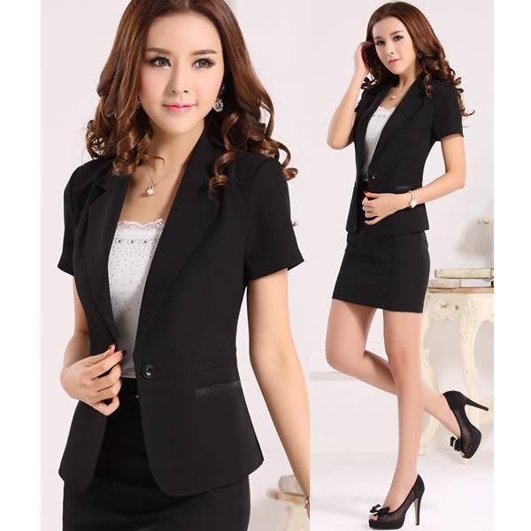 OL套裝女西裝外套+裙子商務職業套裝
