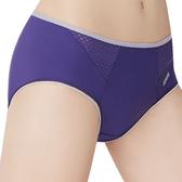 思薇爾-K.K Fit i動洞系列M-XXL素面中腰三角內褲(絳紫色)