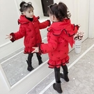 女童冬裝棉衣新款女孩洋氣外套兒童加厚棉服中長寶寶羽絨棉襖 夢幻衣都