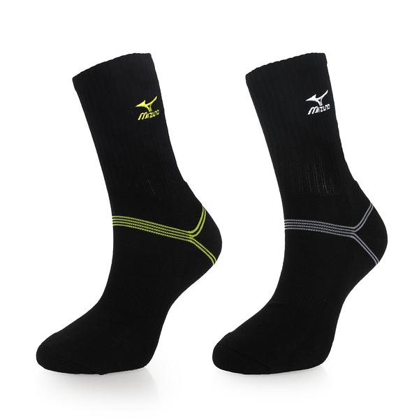 MIZUNO 男運動厚底襪 (襪子 中筒襪 慢跑 路跑 美津濃 免運 ≡排汗專家≡