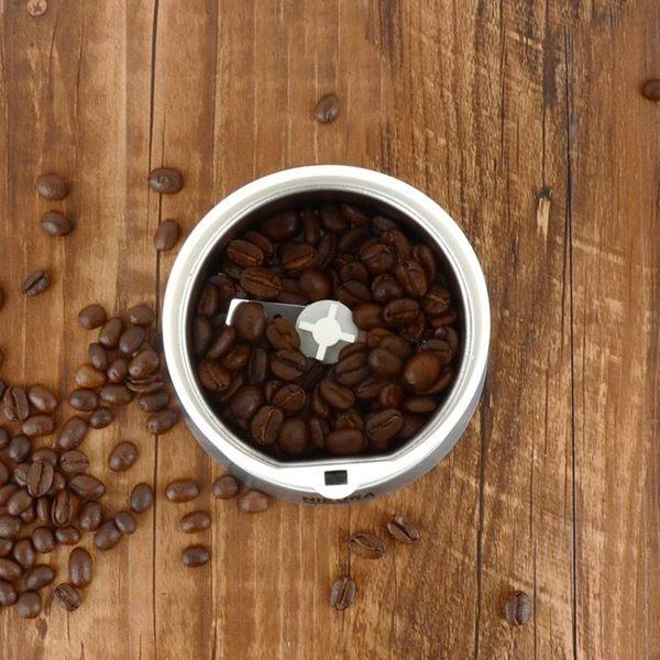 新品不銹鋼咖啡電動磨豆機小型多功能研磨機粉碎機家用商用便攜式【驚喜價全館九折】