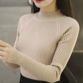 秋裝新款緊身毛衣女內搭修身長袖半高領針織衫套頭百搭打底衫 9號潮人館