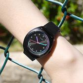 ALBA / VJ32-X304SD.AG8K53X1 / 跳色潮流 霓虹元素 日期 米蘭編織不鏽鋼手錶 鍍黑 36mm