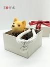 柴犬鑰匙扣掛件女韓國可愛車情侶鑰匙錬一對小狗狗公仔 黛尼時尚精品