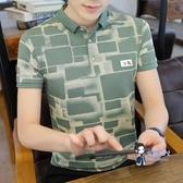 polo衫 2020夏季新款POLO衫韓版潮流短袖男t恤男裝襯衫領衣服有帶領體恤 3色