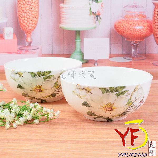 【堯峰陶瓷】餐桌系列 骨瓷 白山茶 6吋湯碗 碗公 麵碗碗缽 單入   新婚贈禮   新居落成禮現貨