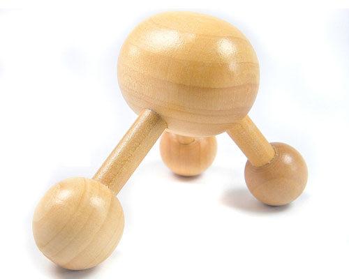 木製 推壓按摩器|肩頸按摩器 腰部按摩器 穴道按摩器 腳底按摩器【mocodo 魔法豆】