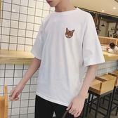 T恤 2018夏季新款休閒體恤學生青少年上衣服韓版潮流青年男士短袖t恤 芭蕾朵朵