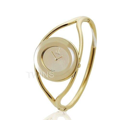 A0812《CK》delight 流金曲線手鐲腕錶