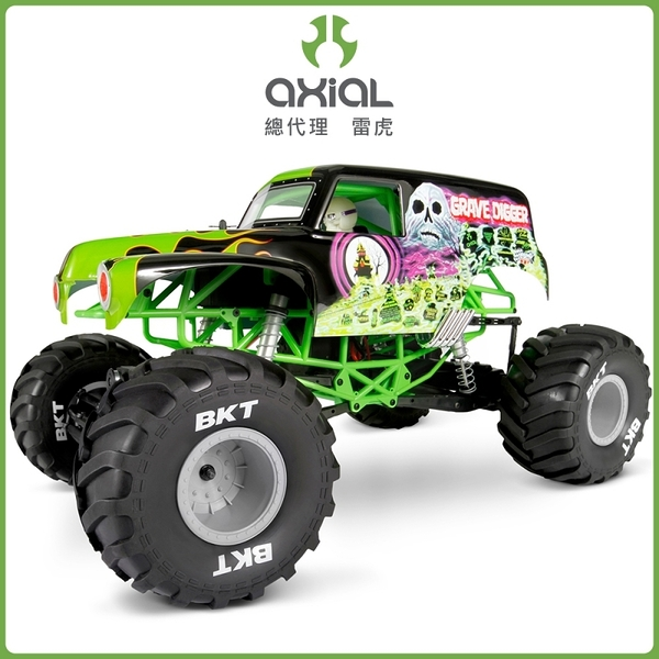 【Axial Racing】Grave Digger Monster Jam Truck 1/10怪獸卡車 RTR-AX90055(大腳車)