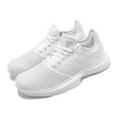 adidas 網球鞋 GameCourt 白 全白 女鞋 運動鞋 【PUMP306】 EE3813