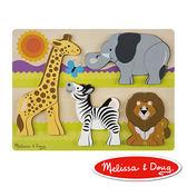 美國 Melissa & Doug 厚塊拼圖 - 非洲動物園