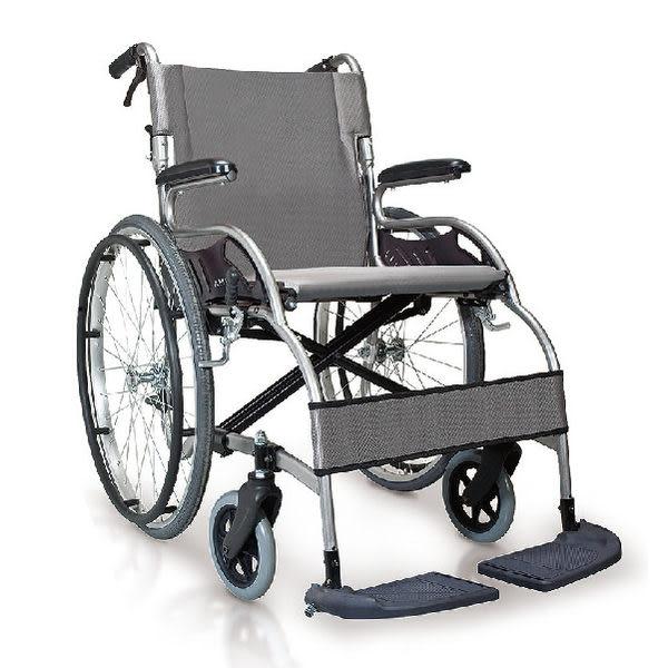 輪椅-康揚 星鑽KM-1504 (單台) 異形強化骨架 18 座寬銀黑色座墊,鋁合金 補助款【杏一】
