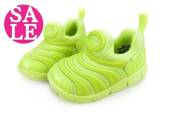 NIKE 童運動鞋 DYNAMO FREE 毛毛蟲鞋 小童 零碼出清 M7095#黃色◆OSOME奧森鞋業