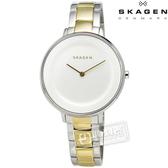 SKAGEN / SKW2339 / Ditte優雅簡約同心圓不鏽鋼手錶 白x金 36mm