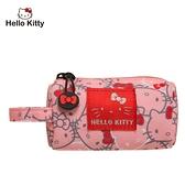 【橘子包包館】Hello Kitty 繽紛凱蒂-圓筒零錢包-粉 KT01V06PK 零錢包