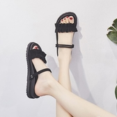 涼鞋新品女夏季正韓兩穿沙灘外穿涼拖仙女風平底百搭學生女鞋