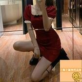 夏季顯瘦緊身包臀裙子連衣裙蕾絲吊帶連身裙女【小狮子】