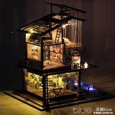 都挺好同款 DIY小屋巴倫西亞創意手工制作房子模型別墅拼裝玩具女 深藏blue