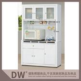 【多瓦娜】19058-702005 貝多美白色4尺碗櫥櫃(全組)(132+132-1)