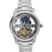 Valentino coupeau雙面鏤空銀色機械錶NEV86