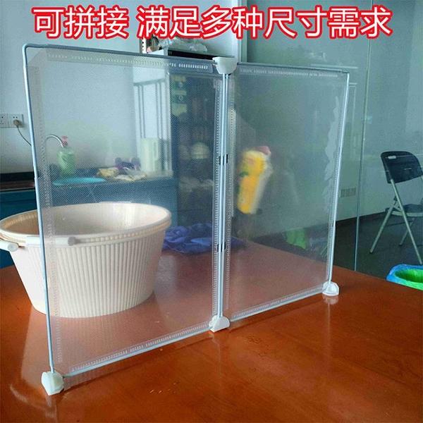 防疫隔板透明隔離板食堂餐桌上擋條餐飲店機場學校PVC桌面分隔板