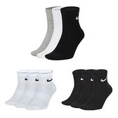 NIKE 男三入運動短襪 (三入裝 訓練 襪子 中筒襪  ≡排汗專家≡