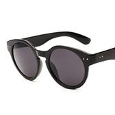 太陽眼鏡-偏光復古圓框流行抗UV女墨鏡9色71g40[巴黎精品]