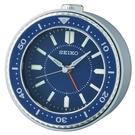 9.5X9.4cm 日本精工 SEIKO 藍水鬼 滑動式秒針 貪睡 鬧鐘 QHE184L