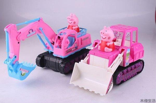 佩佩豬工程車 挖土機 挖掘機 鏟車  模型車 卡通車 電動玩具 挖掘機/挖土機 充電電池 充電器款