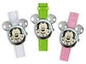 【卡漫城】 出清6折特價 米奇 手錶 皮革 三色選一 ㊣版 馬卡龍 錶帶 Mickey 兒童 女錶 卡通 米老鼠