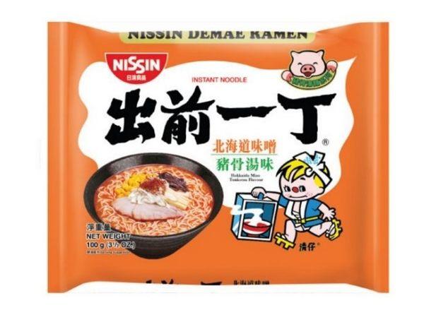 【麻吉熊】日本 日清出前一丁拉麵 北海道味增豚骨湯味100g(單包)