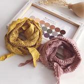 鏤空蕾絲防風三角頭巾圍巾 兒童圍巾 童裝配件 圍脖 防風頭巾