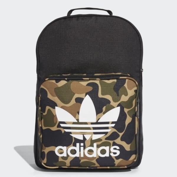 【折後$1680】◆adidas Originals Classic Camouflage Backpack 黑 迷彩 三葉草 logo 後背包 男女款 CD6121