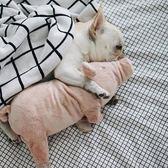 狗狗玩具法斗陪睡伴侶睡覺玩偶豬寵物髮情髮泄泰迪狗逗貓 貝芙莉女鞋