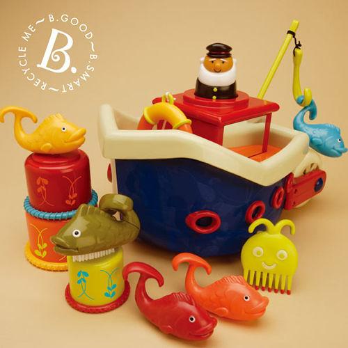 【美國 B.Toys 感統玩具】小船長釣魚組