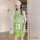 洋裝連身裙孕婦連身裙夏裝套裝時尚款洋氣運動休閑寬松外出女夏天品牌【小玉米】