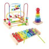 早教嬰兒男女寶寶益智串珠玩具tz998【歐爸生活館】