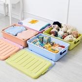 限定款塑料特大號床底收納整理箱箱透明扁平加厚床下衣服被子整理箱滑輪儲物箱jj