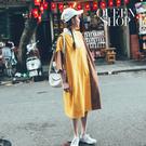 Queen Shop【01084799】撞色寬版襯衫領洋裝 兩色售*現+預*