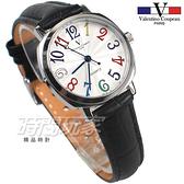 valentino coupeau范倫鐵諾 方圓數字時尚錶 防水手錶 真皮 黑 女錶 V61601CW黑小